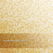 Seamless background with shiny golden paillettes — Stock Vector