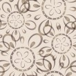 Seamless background with imprinted flower pattern — Stok Vektör