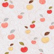 Seamless background with apples — Stock Vector