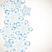 Patrón de flor monocromo — Vector de stock