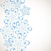 白黒花柄 — ストックベクタ