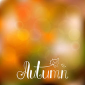 Autumn background with hand drawn lettering — Stock Vector