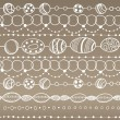 Stock Vector: Seamless pattern with lacy design