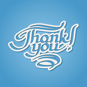 Thank you hand-drawn lettering — Stock Vector