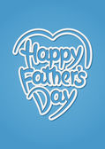 Happy father's day hand-drawn lettering — Stock Vector
