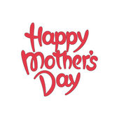 """Happy mother's day"" hand-drawn lettering — Stockvector"