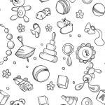 Seamless children background — Stock Vector