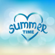 Summer time - typographic design — Stock Vector #45062117