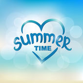 Summer time - typographic design — Vettoriale Stock