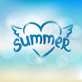 Summer typographic design. Hand drawn lettering — Stock Vector