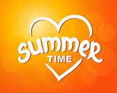 Summer time - typographic design — Stock Vector