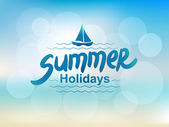 Summer holidays - typographic design — Stock Vector