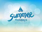 Summer holidays - typographic design — Stock Vector