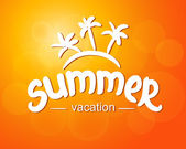 Summer vacation - typographic design — Stock Vector
