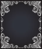 Template frame design for card. Floral pattern. — Stock Vector