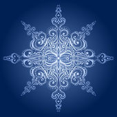Ornamental snowflake — Stock Vector
