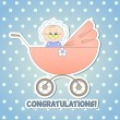 Child in a carriage — Stock Vector