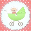 Child in a carriage — Stock Vector #45202539