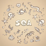 Sea life elements — Stock Vector #45202677
