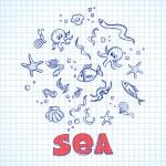 Sea life elements — Stock Vector #45202681