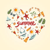 Summer elements for your design — Stock Vector