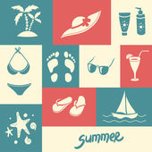 Summer elements for your design — Stockvektor