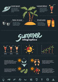Summer infographics elements — Stock Vector