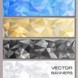 Set of banners with geometric pattern — Stock Vector #50789073
