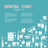 Dental care background — Stok Vektör