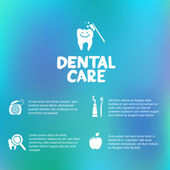 Dental care simple infographics — Stock Vector