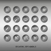 Set of dentistry symbols. — Stock Vector