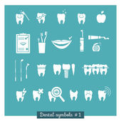 Set of dentistry symbols, part 1 — Stock Vector