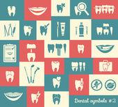 Set of dentistry symbols, part 2 — Stock Vector