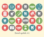 Set of dentistry symbols, part 2 — Stock Vector