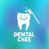 Dental care design concept — Stock Vector