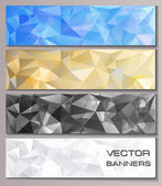 Set of banners with geometric pattern — Stock Vector