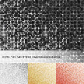 Set of sparkle sequin backgrounds — Stock Vector