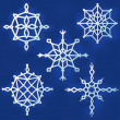 Set of simple snowflakes — Stock Vector #51498501