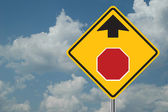 Stop Ahead Sign — Stock Photo