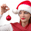 Stock Photo: Woman with Santa