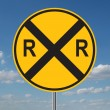 Railroad Crossing Warning — Stock Photo #12841037