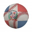 Baseball with the Dominican Republic Flag — Stock Photo