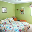 Bedroom decorated in green tones — Stock Photo