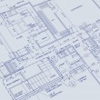 Blueprint of a house — Stok fotoğraf