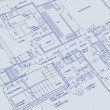 Stock Photo: Blueprint of a house