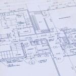 Blueprint of a house — Stock Photo