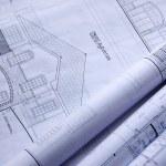 Blueprints of a house — Stock Photo