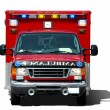 Ambulance ssolated on a white background — Stock Photo