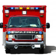 Stock Photo: Ambulance ssolated on white background