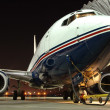 Stock Photo: Airplane parked at airport
